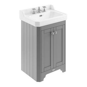 Old London Storm Grey Compact Vanity Unit 595mm