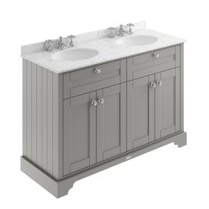 Old London Storm Grey Vanity Unit with Marble Top 1200mm