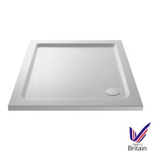 1000 x 1000 Shower Tray Square Low Profile by Pearlstone
