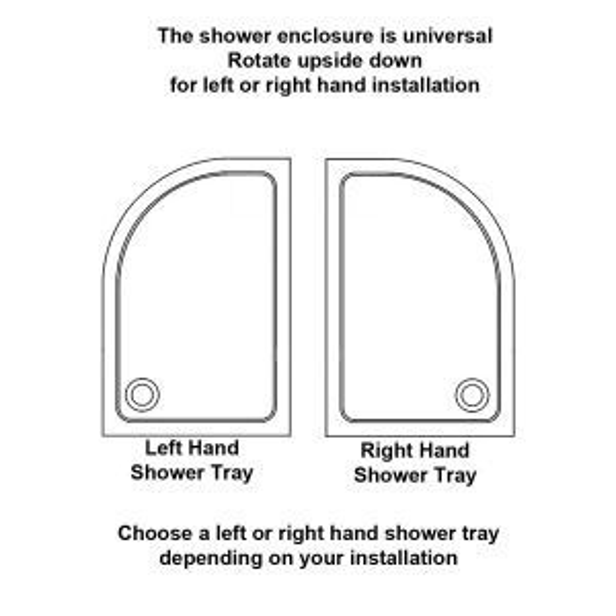 Optional Shower Tray Hand