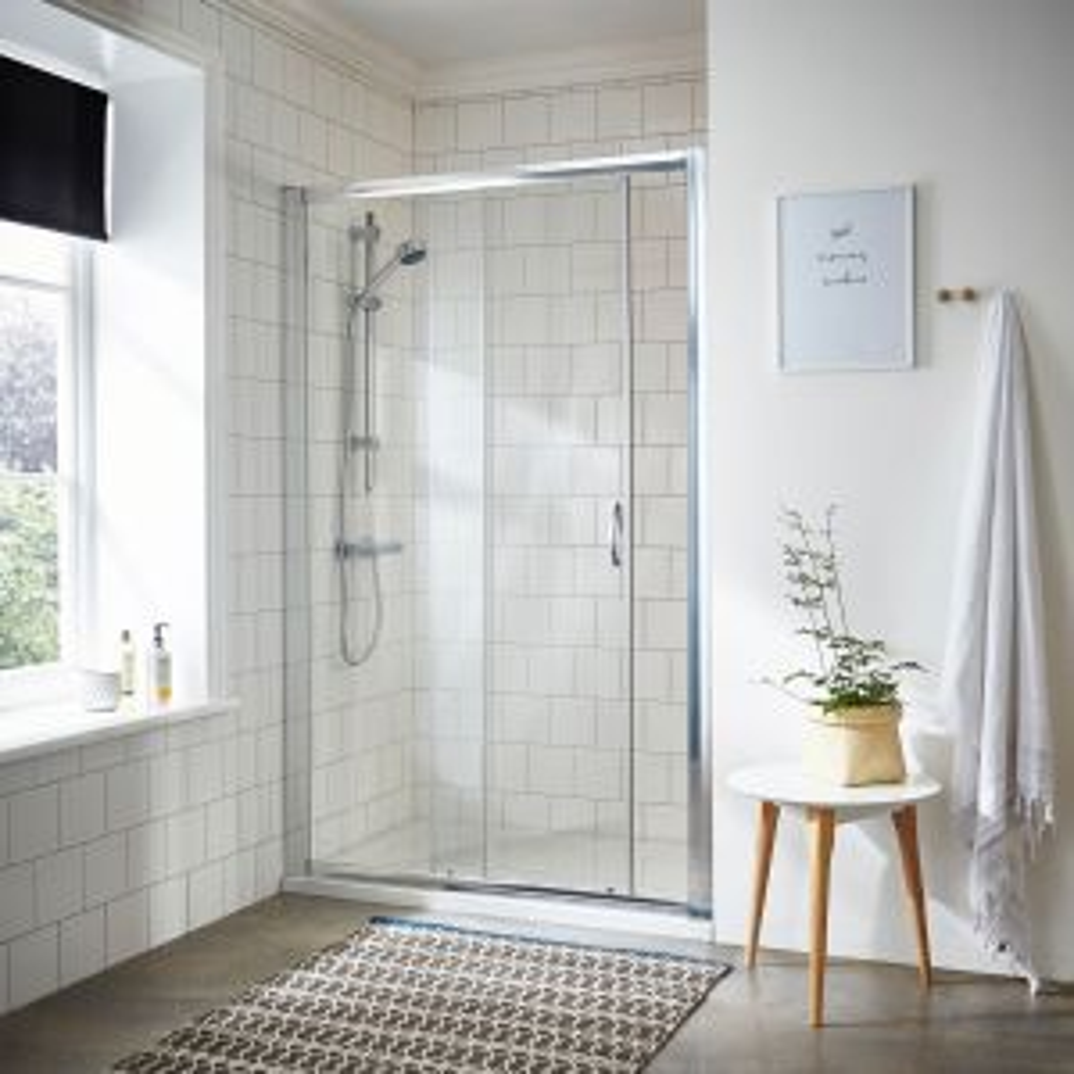 RAK Series 600 Bathroom Suite with Sliding Shower Enclosure