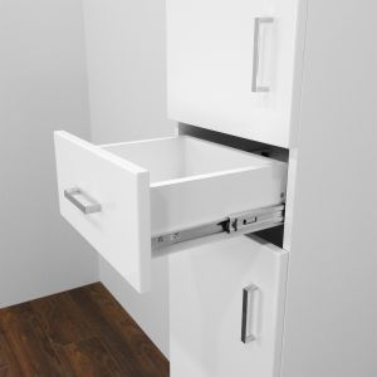 Premier High Gloss White Tall Boy Storage Unit Drawer