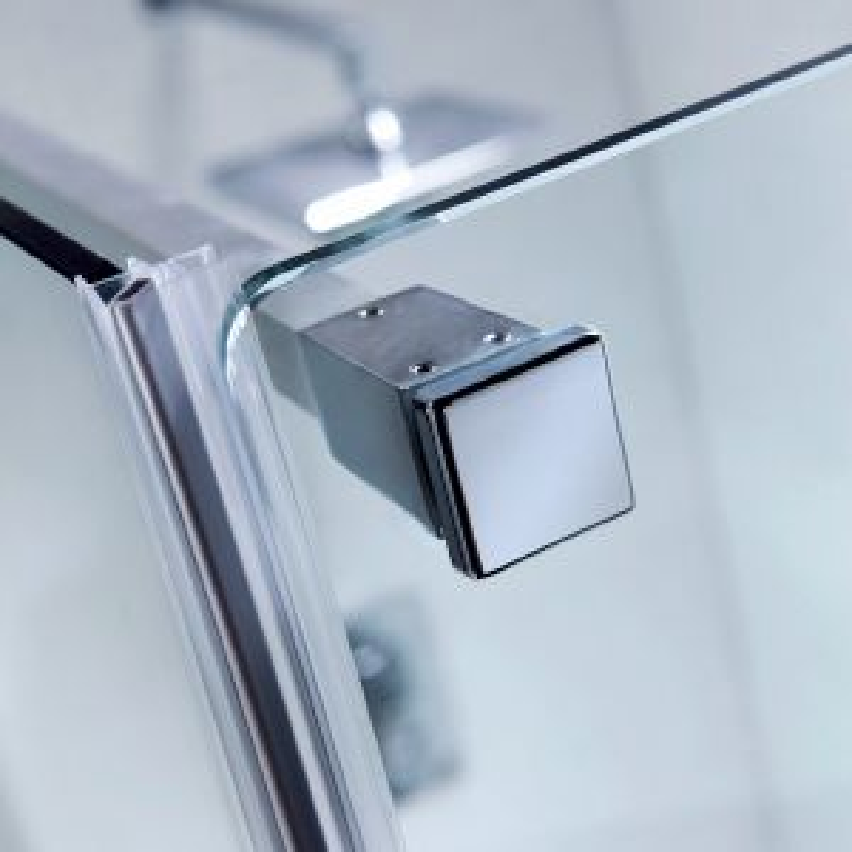 Prestige2 Frameless Hinged Shower Door with Optional Side Panel Detail 4
