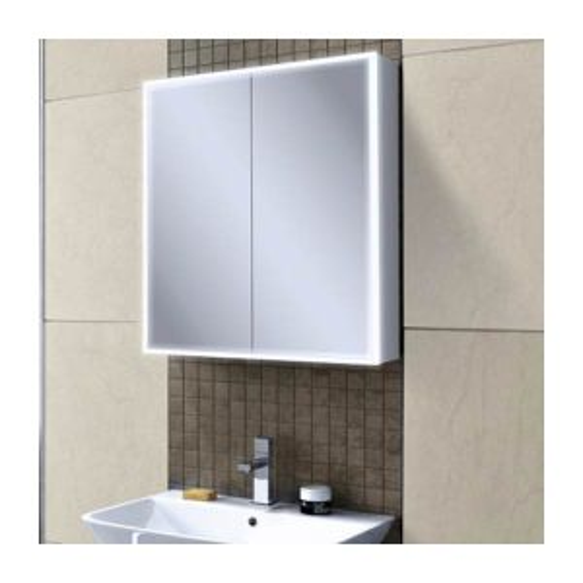 HiB Qubic 60 LED Double Door Cabinet