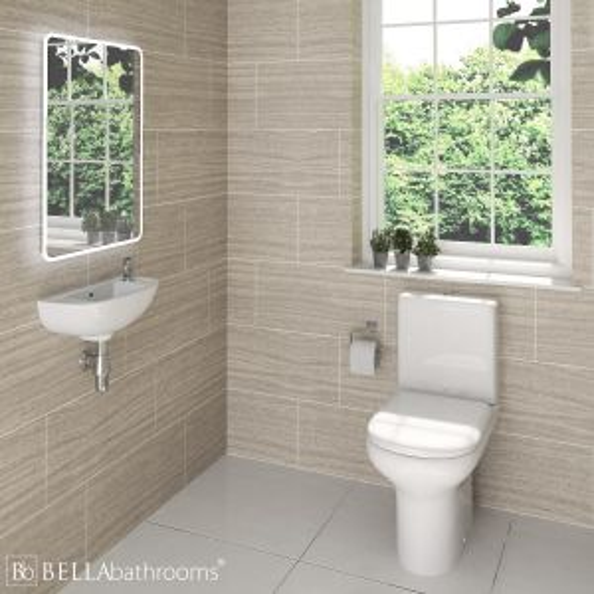 RAK Compact Cloakroom Suite with Slimline Basin