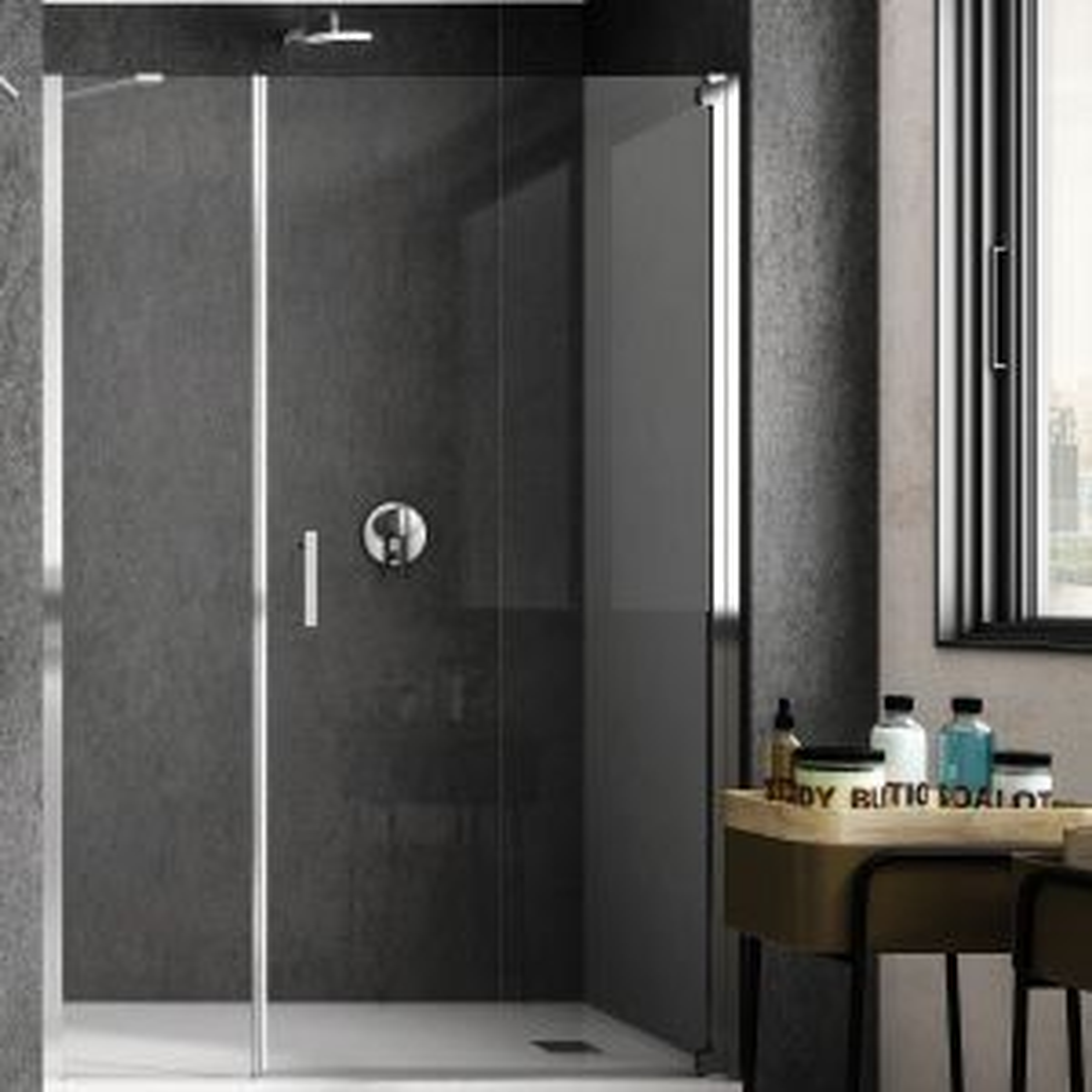 RAK Feeling Chrome Wet Room Shower Enclosure with Optional Side Panel