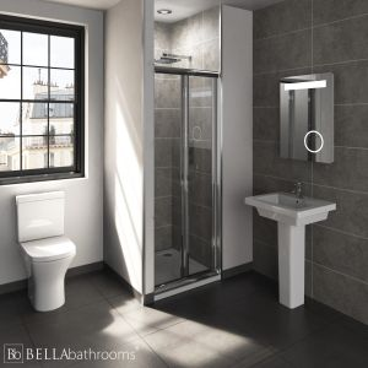 RAK Resort En-Suite with Bifold Door Shower Enclosure Recess