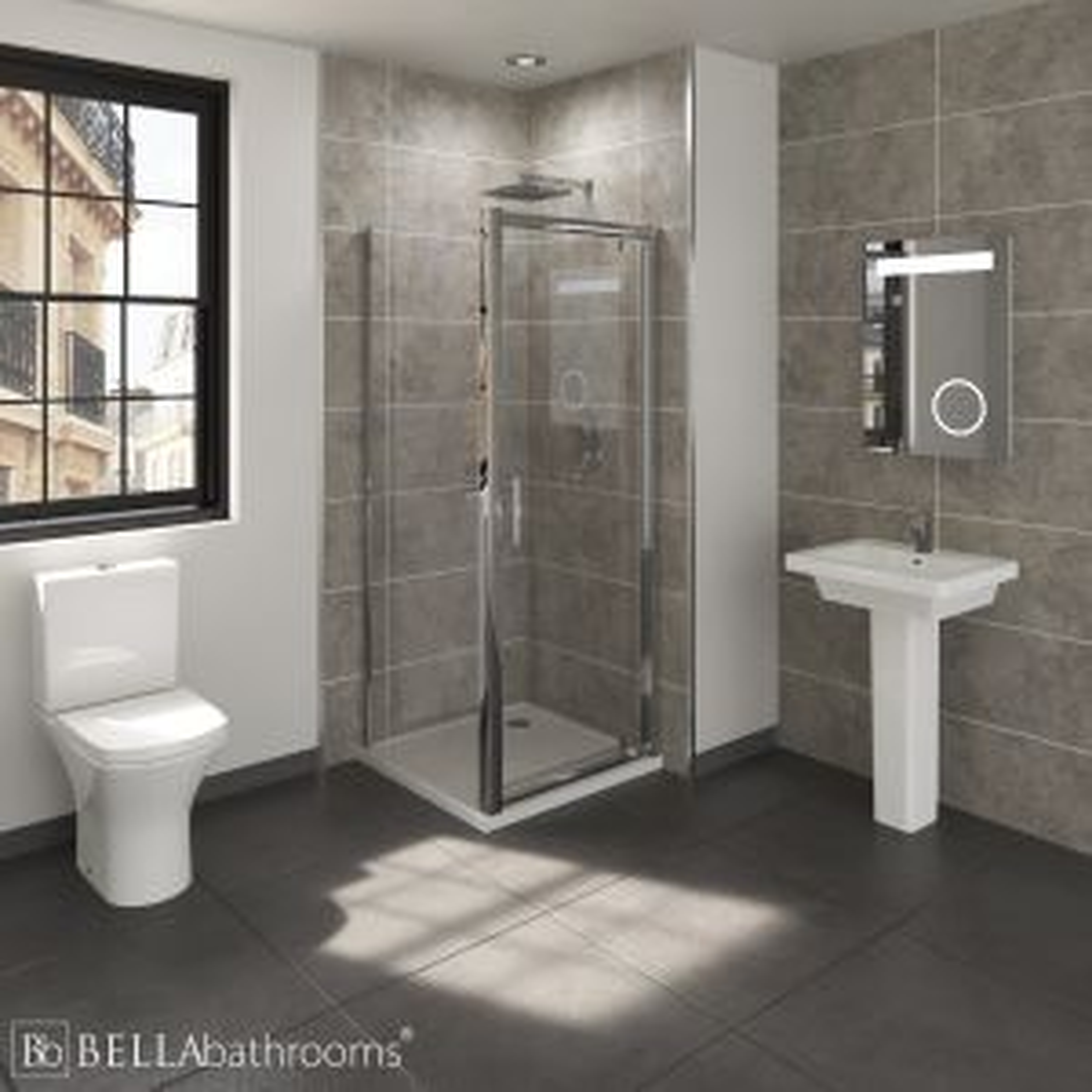 RAK Resort En-Suite with Pivot Door Shower Enclosure
