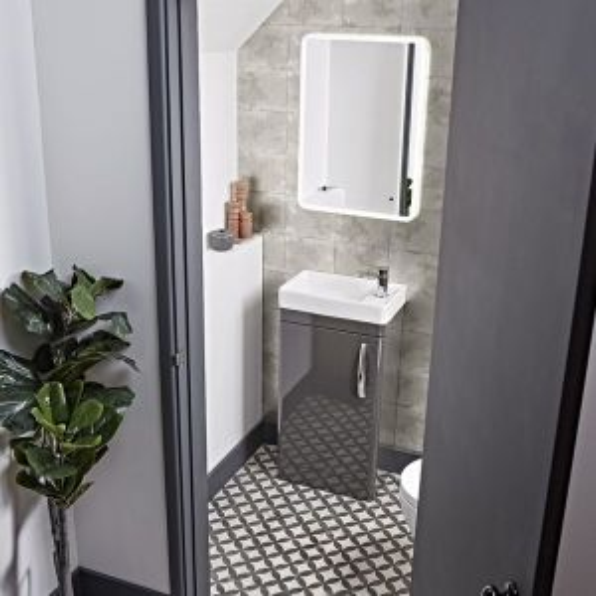 Tavistock Compass Gloss White Cloakroom Vanity Unit 450mm Lifestyle