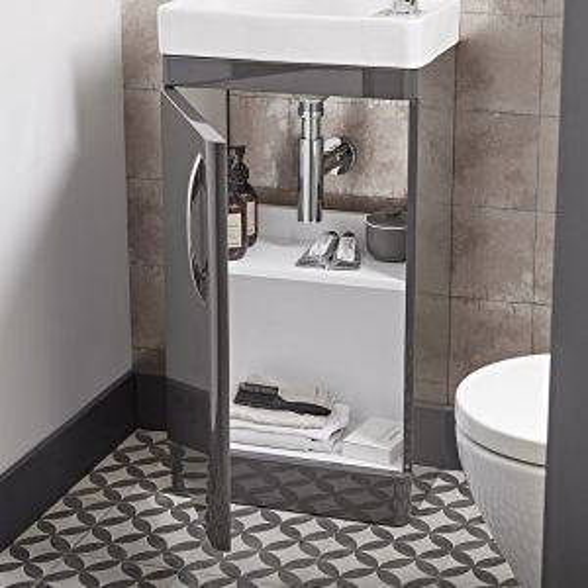 Tavistock Compass Grey Cloakroom Vanity Unit 450mm Inside