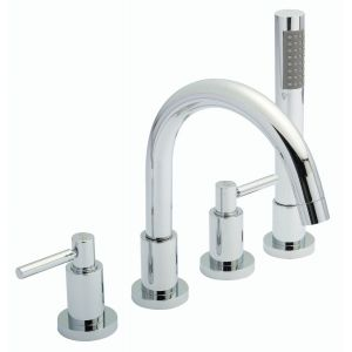 Hudson Reed Tec Lever 4 Tap Hole Bath Shower Mixer Tap
