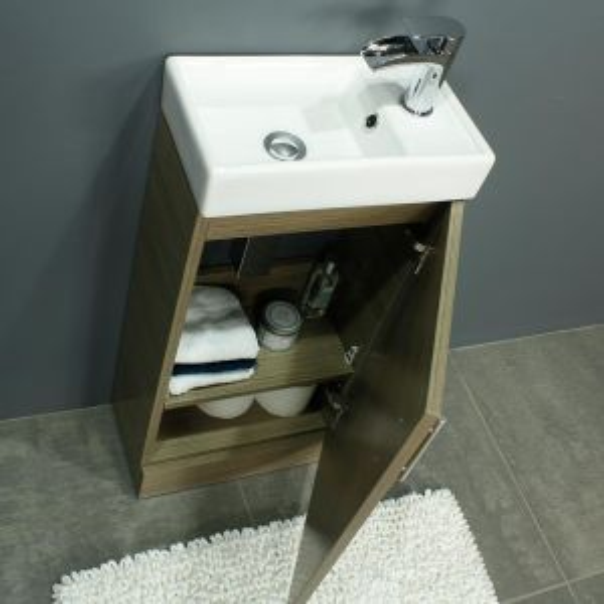 RAK Series 600 Toilet and 400 Series Medium Oak Vanity Unit Door