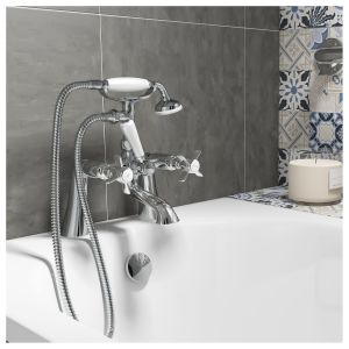 Zenith Time Cranked Bath Shower Mixer Tap Lifestyle
