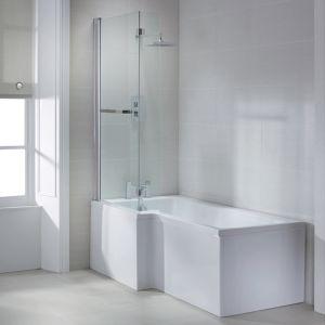 April L Shape Left Hand Shower Bath 1600 x 700mm