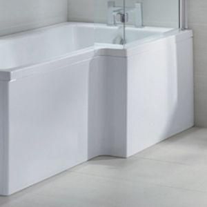 April L Shape Shower Bath Front Panel 1600mm