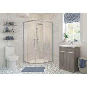 Bathrooms To Love RefleXion Classix 2 Door Offset Quadrant Shower Enclosure 900 x 760mm