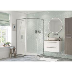 Bathrooms To Love RefleXion Flex 1 Door Offset Quadrant Shower Enclosure 1000 x 800mm