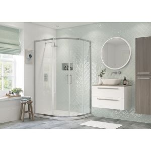 Bathrooms To Love RefleXion Flex 2 Door Offset Quadrant Shower Enclosure 900 x 760mm