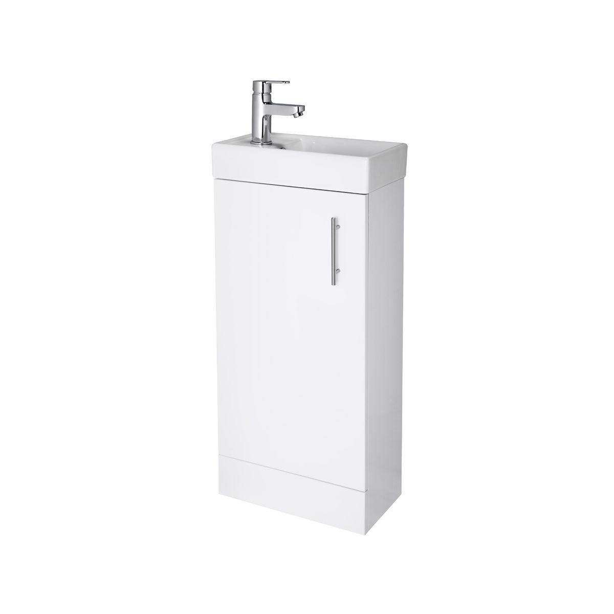 Premier Vault Gloss White Compact Vanity Unit 400mm