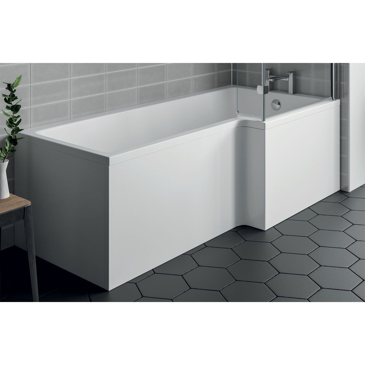 April L Shaped Bath Panel Right Hand