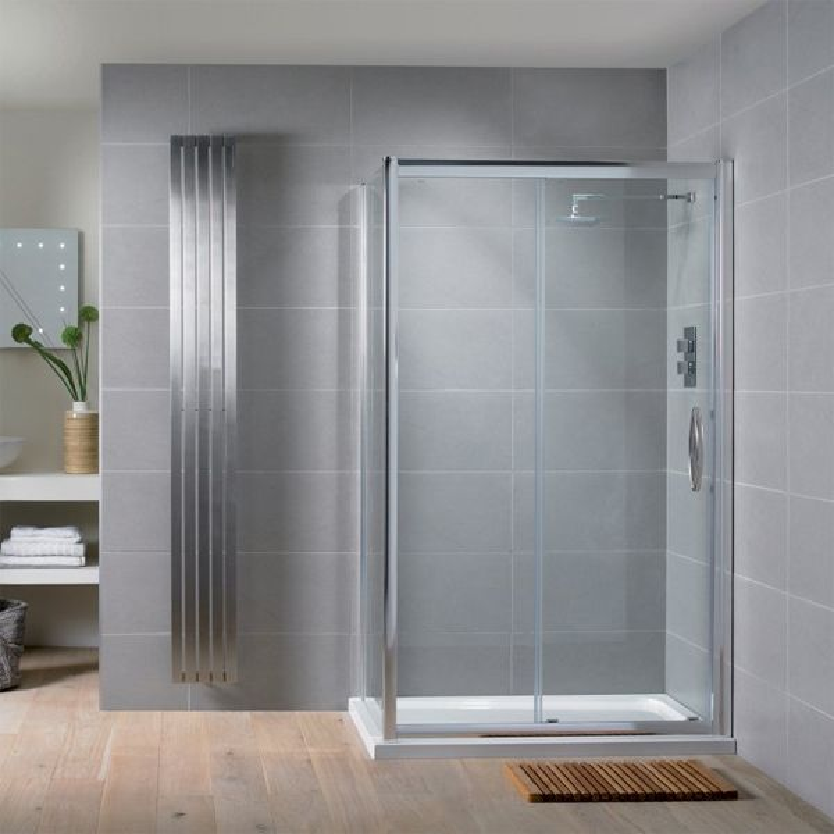 Aquadart Venturi 8 Sliding Shower Door with Optional Side Panel