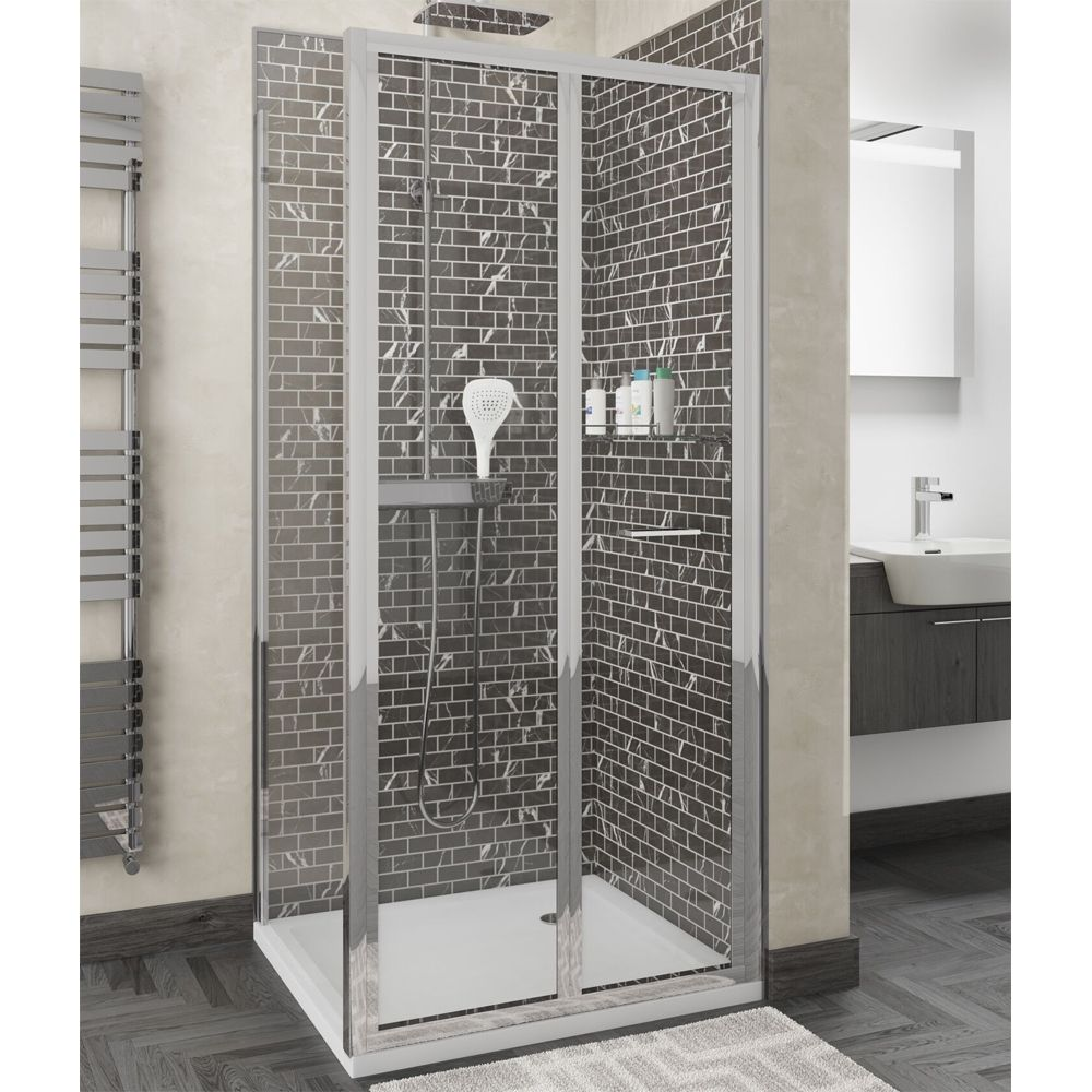 Cassellie Seis Bi-fold Shower Door with Optional Side Panel
