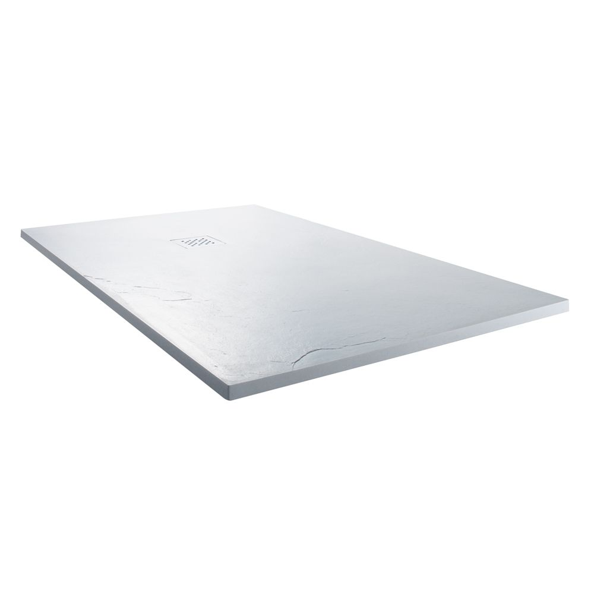 Cassellie Cass Stone White Slate Effect Rectangular Shower Tray 1400 x 800mm