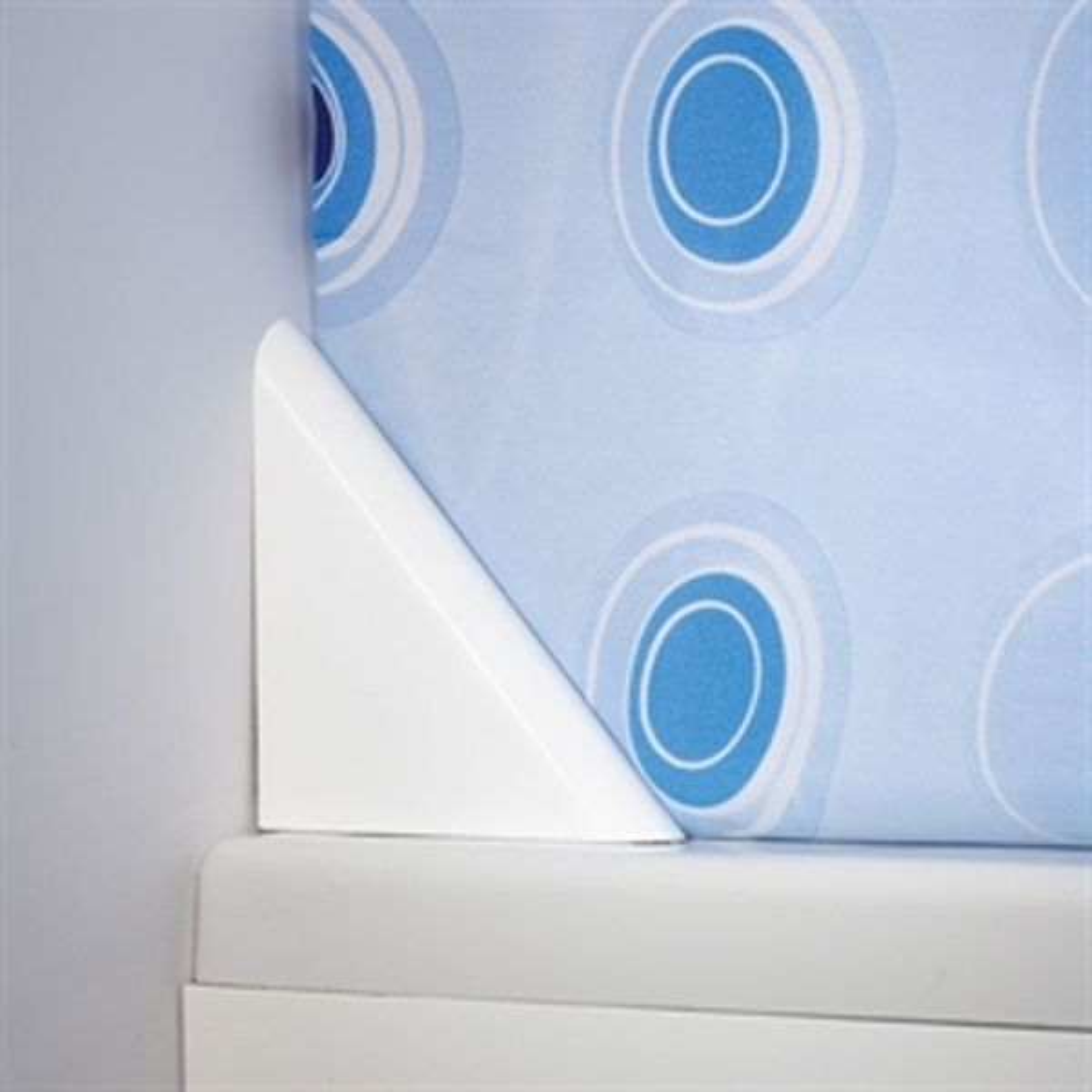 Croydex Bath Shower Curtain Clip White