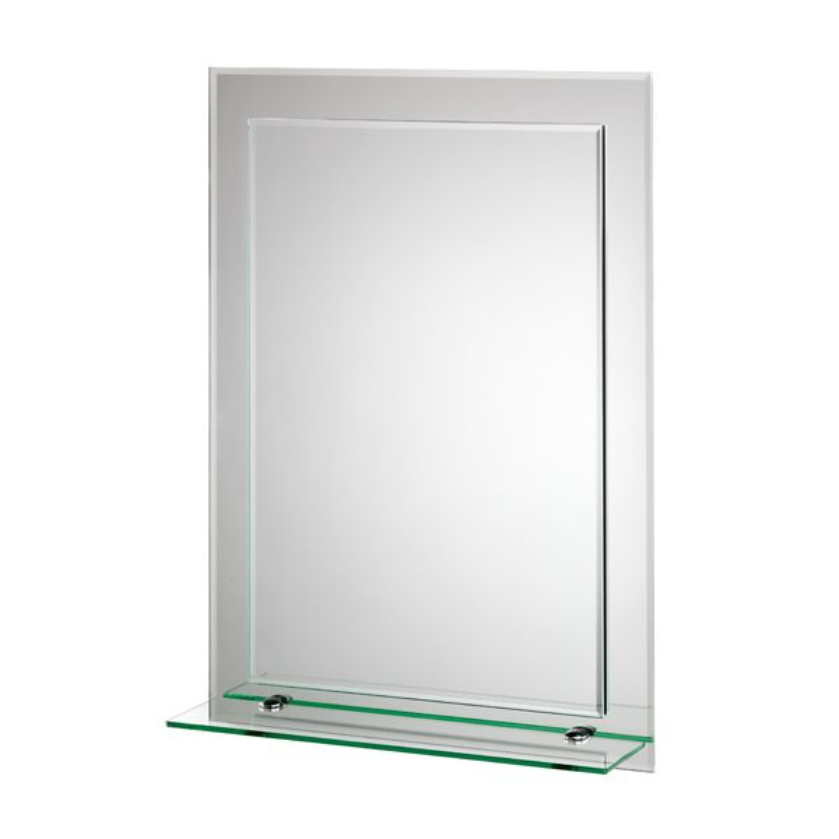Croydex Devoke Rectangular Double Layer Mirror with Shelf