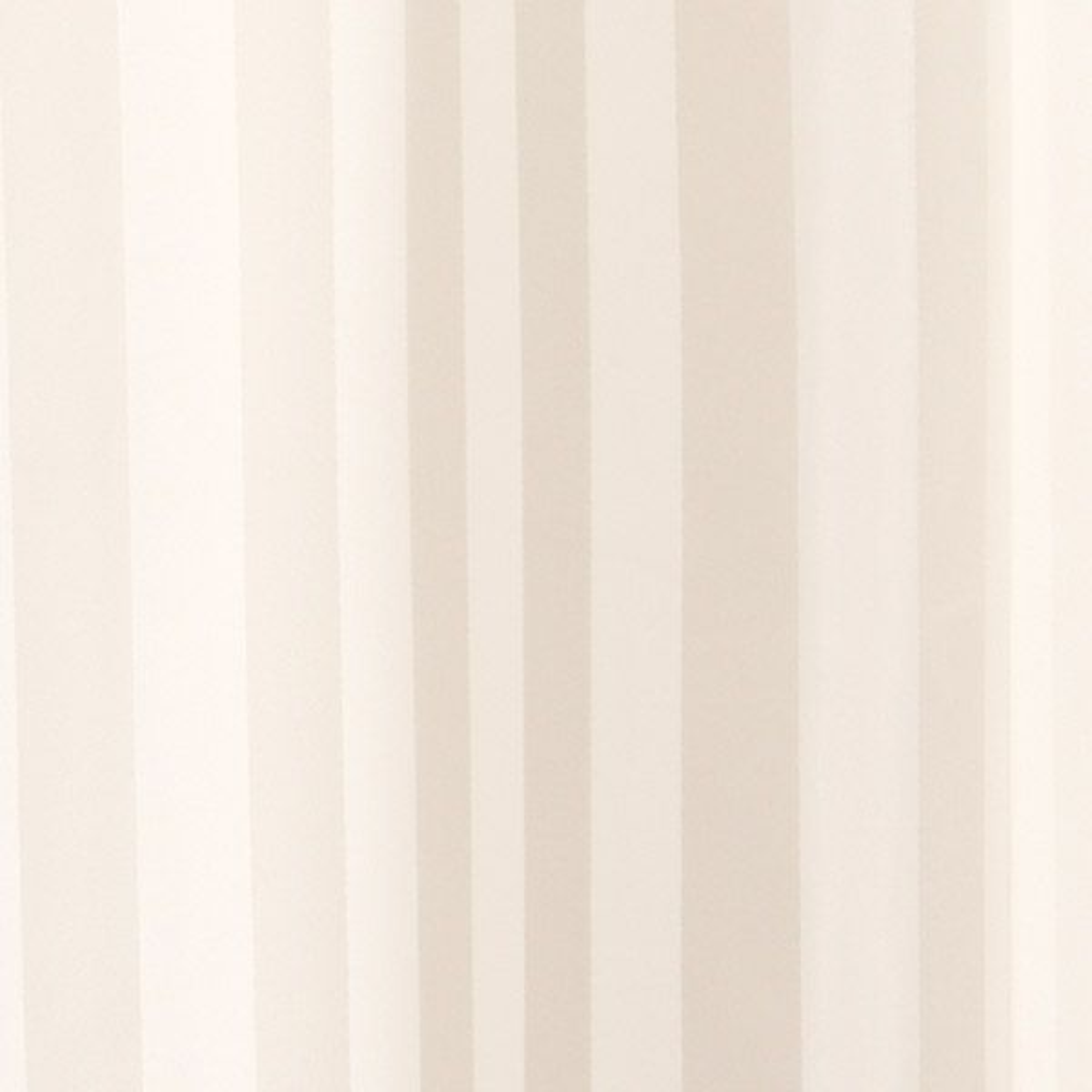 Croydex Ivory Woven Stripe Textile Shower Curtain Detail