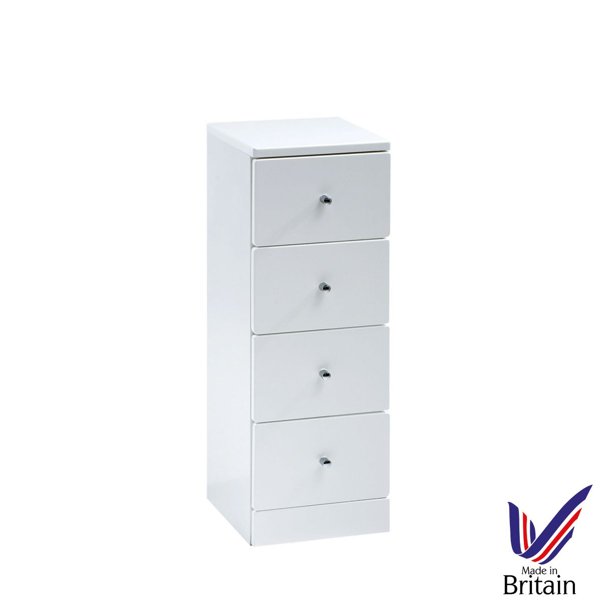 Ikoma White Gloss 4 Drawer Unit