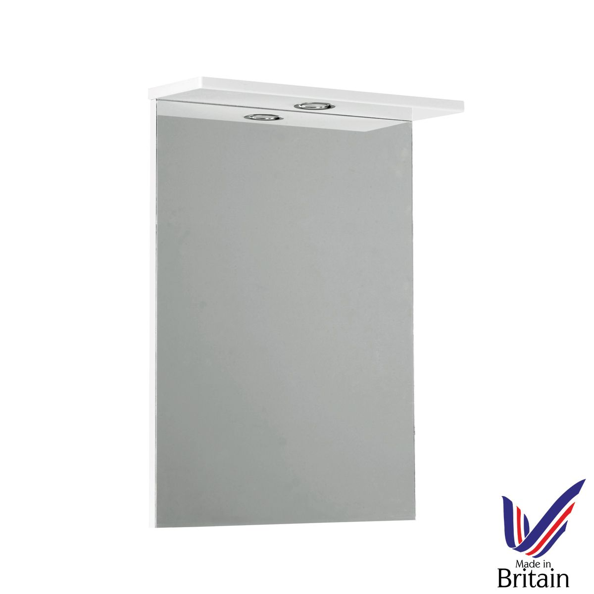 Ikoma White Gloss Mirror Unit 550mm