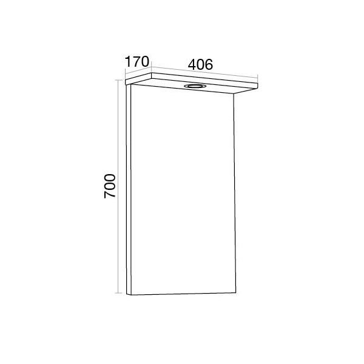 Elation Ikoma Bodega Grey Mirror 450mm Dimensions