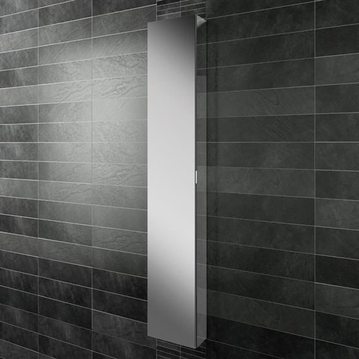 HiB Eris 30 Single Door Mirrored Tall Cabinet