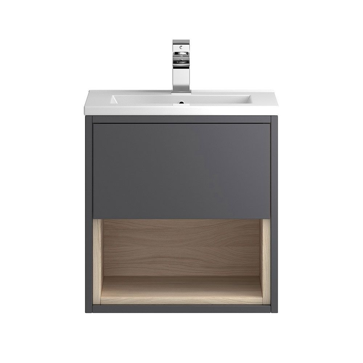 Hudson Reed Coast Grey Gloss Wall Hung Vanity Unit 500mm