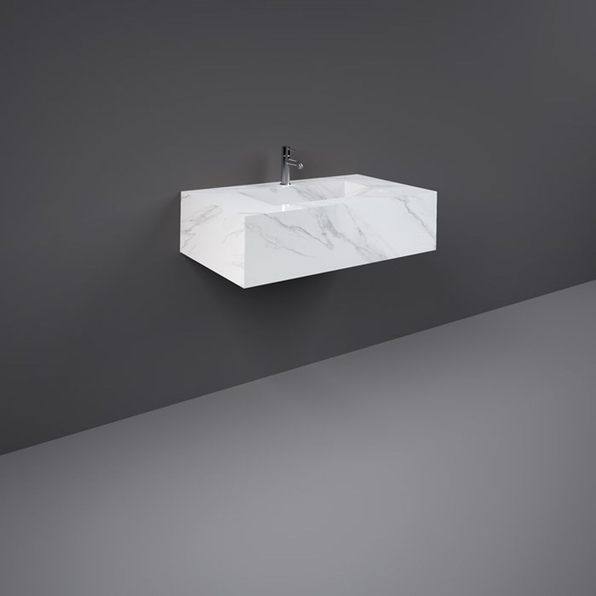 RAK Precious Carrara Wall Hung Counter Basin 800mm with Bracket