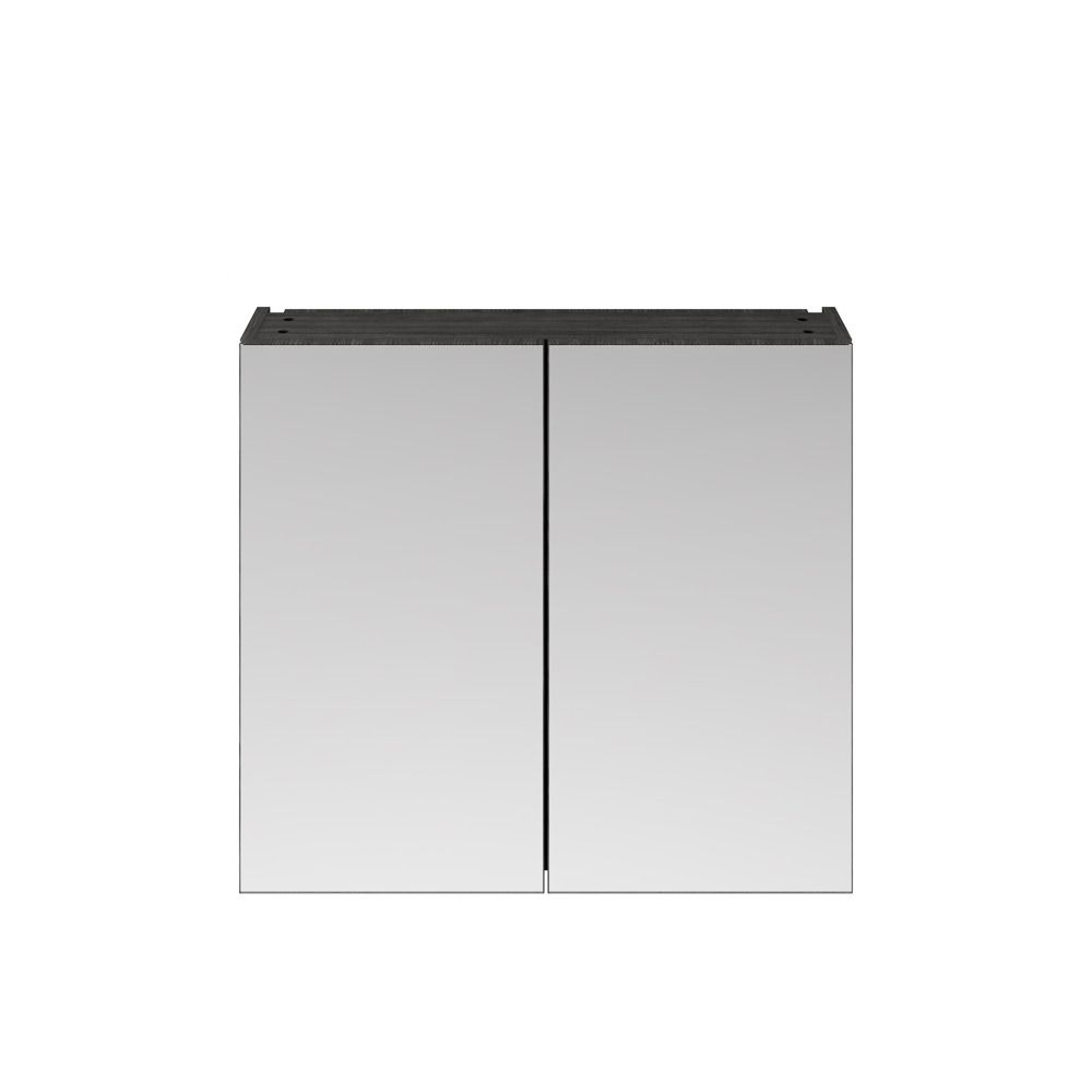 Premier Athena Hacienda Black Double Mirrored Bathroom Cabinet 800mm