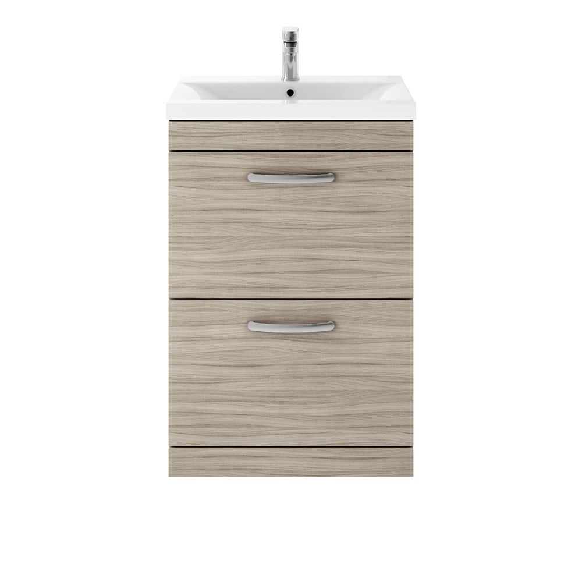 Premier Athena Driftwood 2 Drawer Floor Standing Vanity Unit 600mm
