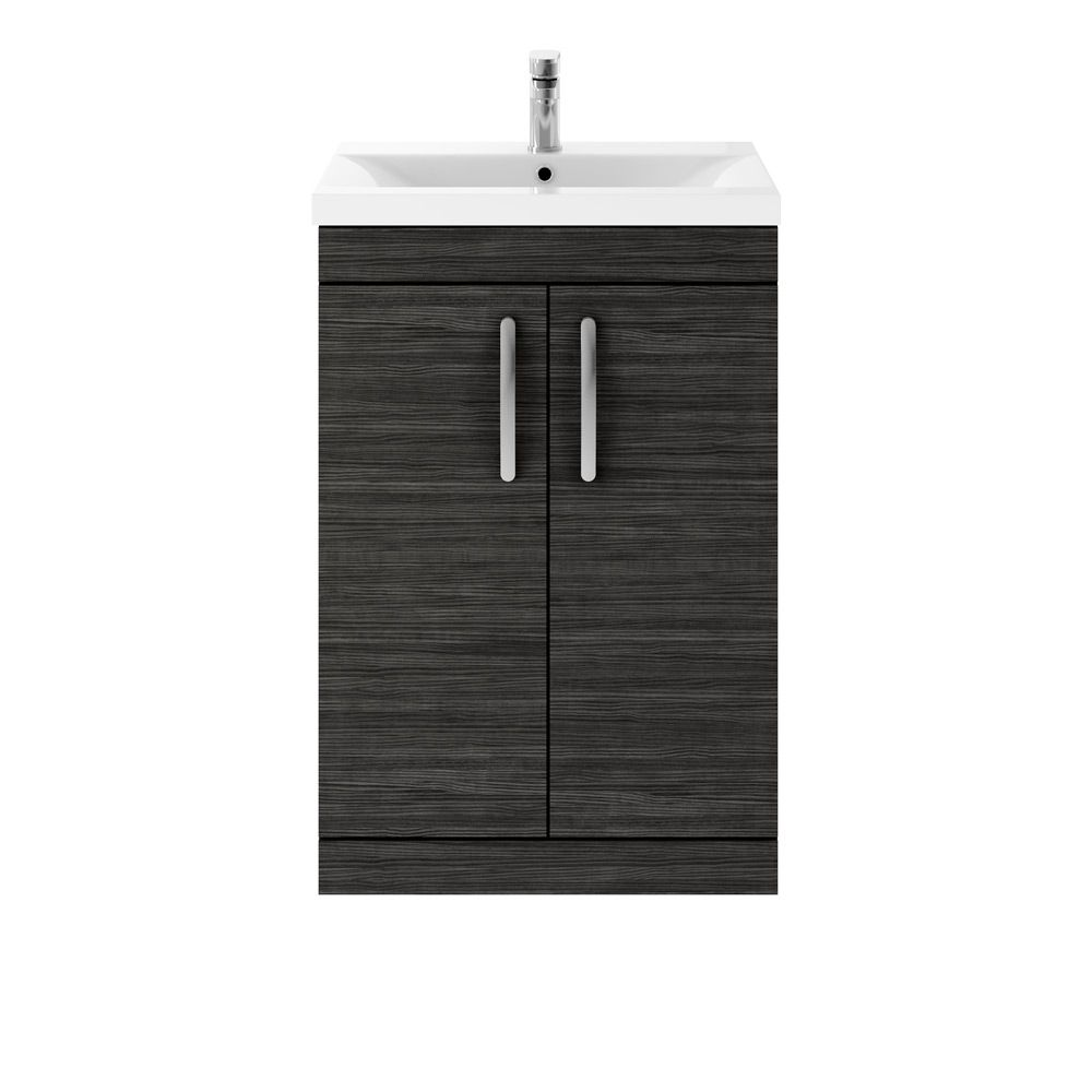 Premier Athena Hacienda Black 2 Drawer Floor Standing Vanity Unit 600mm