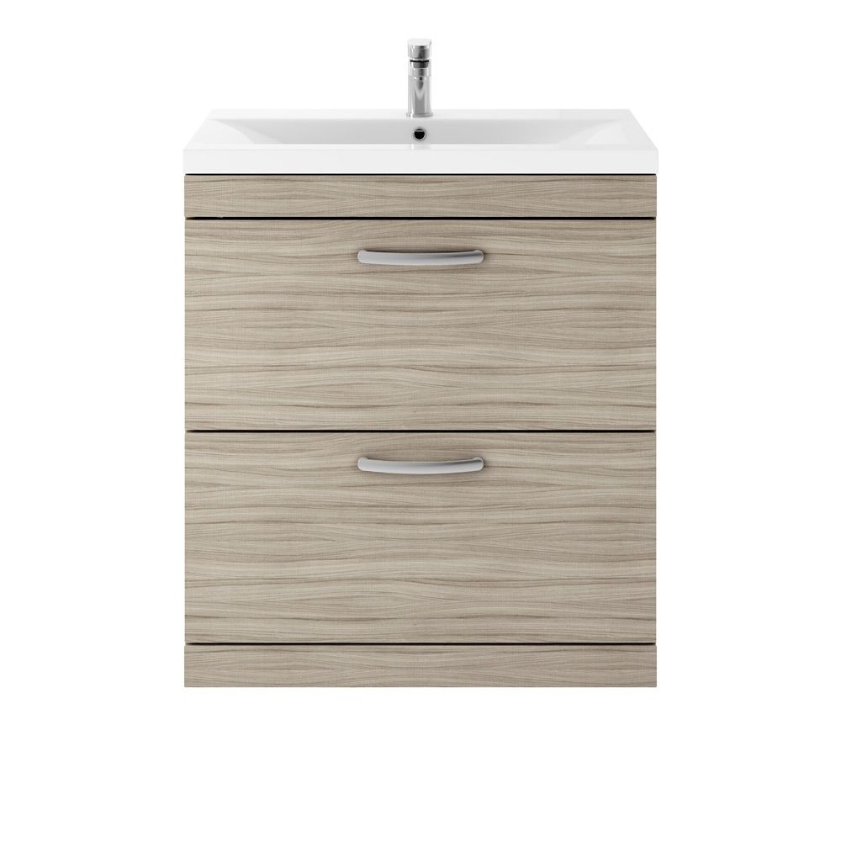 Premier Athena Driftwood 2 Drawer Floor Standing Vanity Unit 800mm