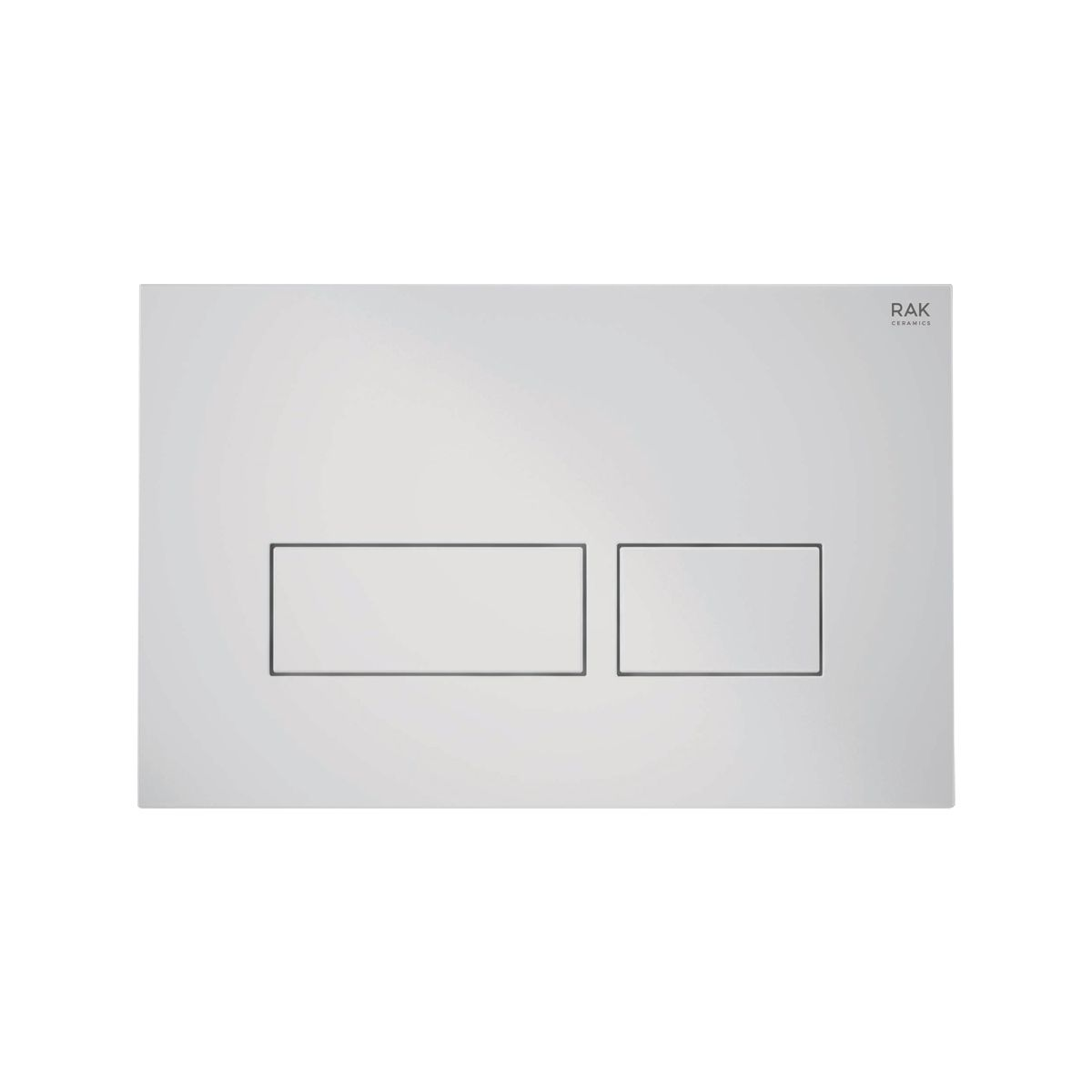RAK Ecofix White Flush Plate with Rectangular Push Buttons