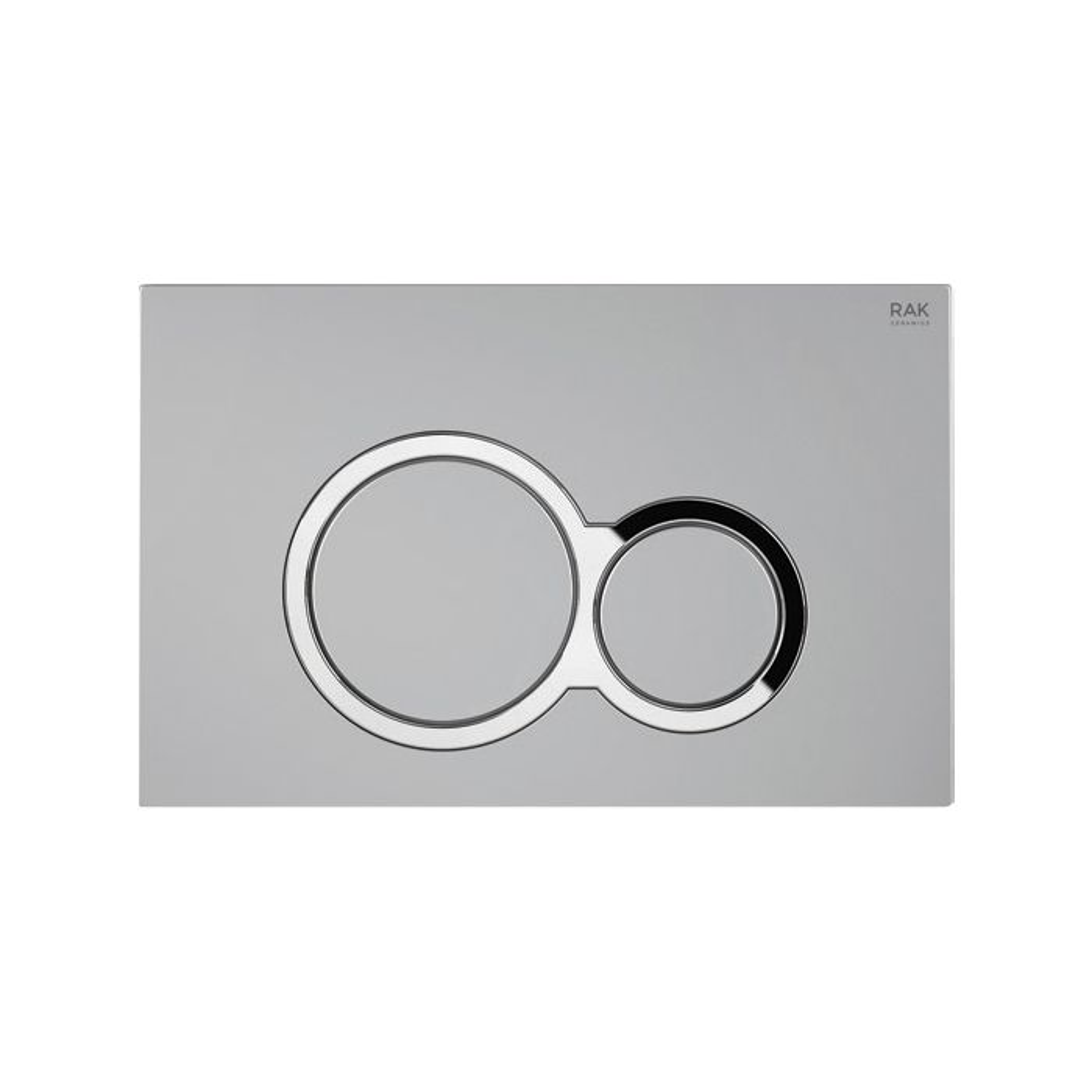 RAK Ecofix Matt Chrome Flush Plate with Surrounded Round Push Buttons