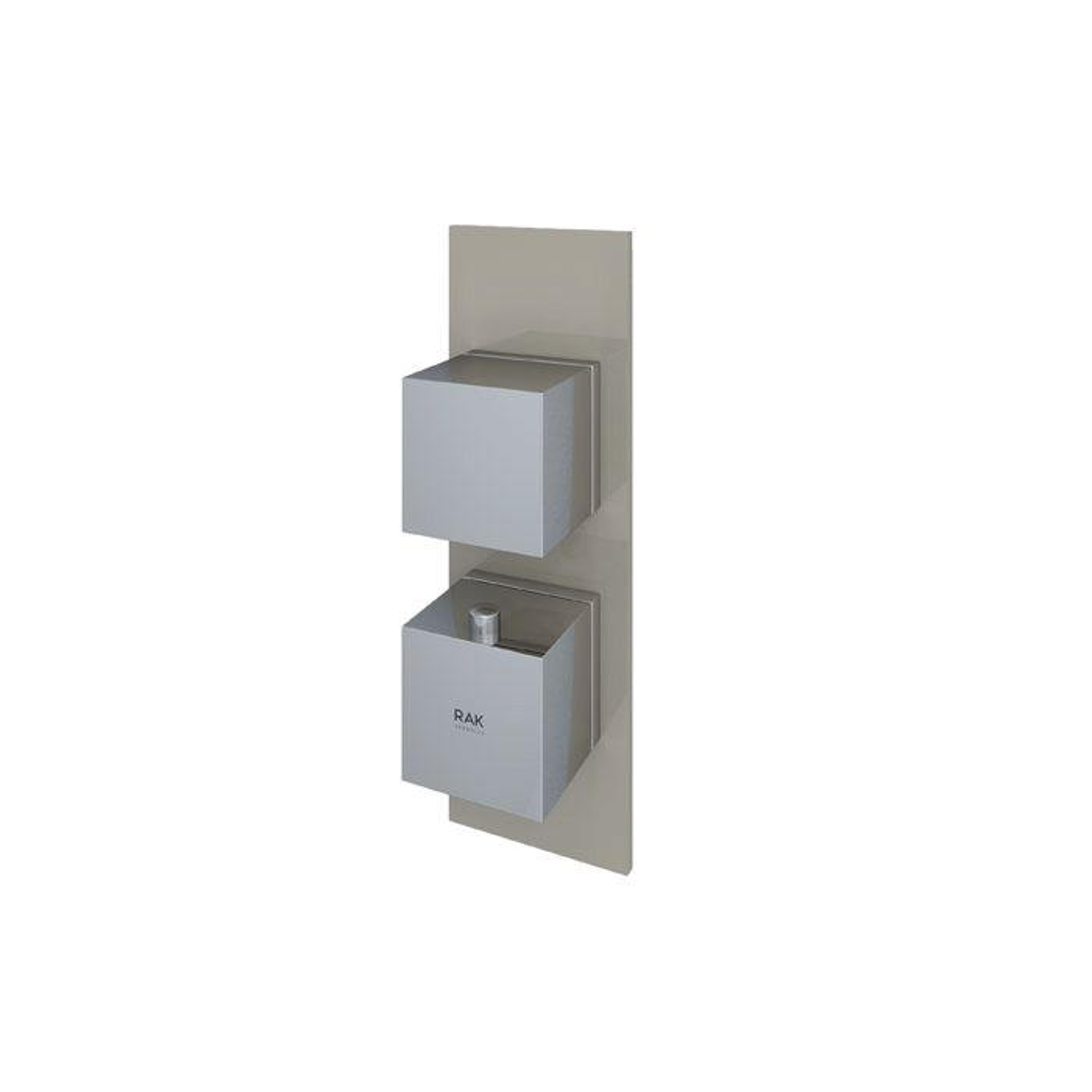 RAK Feeling Cappucino Square Single Outlet Thermostatic Shower Valve