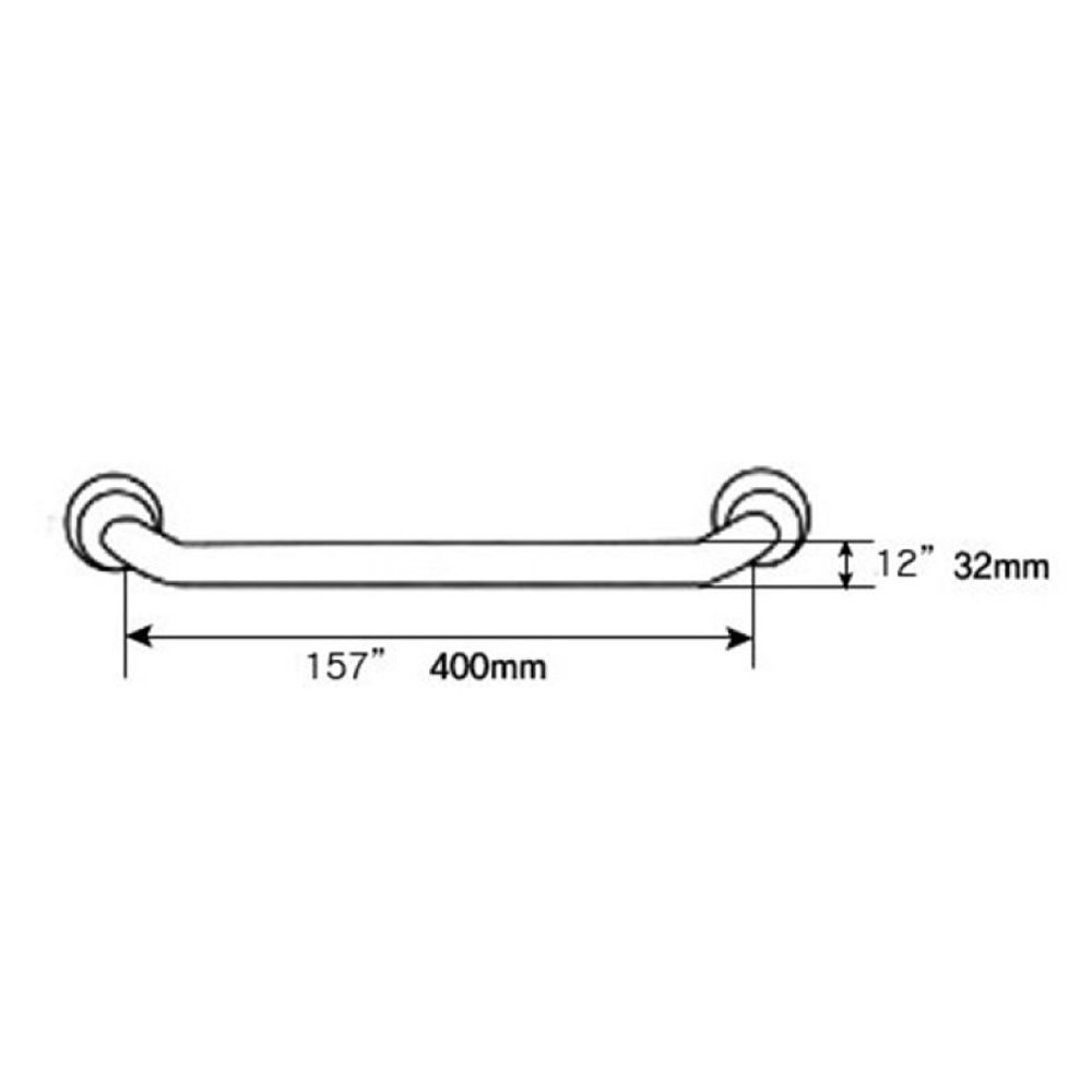 RAK Straight Grab Rail 400mm Measurements