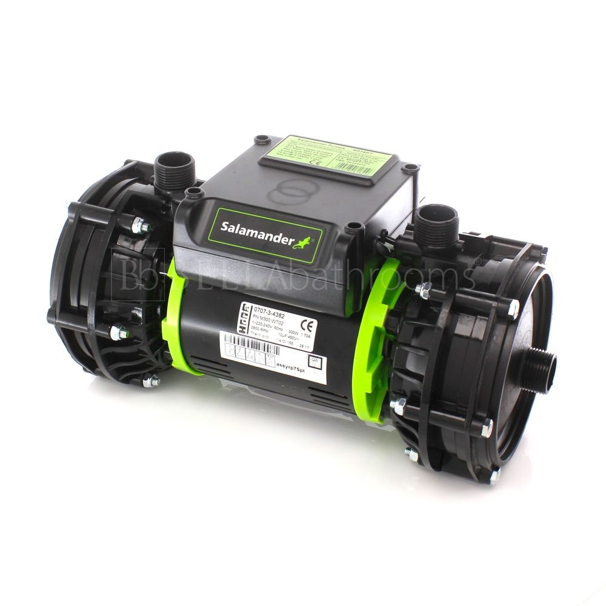 Salamander RP75PT 2.0 Bar Twin Positive Head Shower Pump