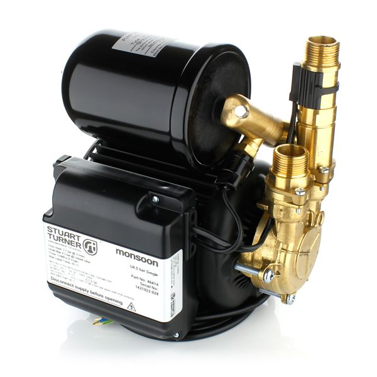 Stuart Turner 46414 Monsoon Universal Single 4.5 Bar Negative Head Pump