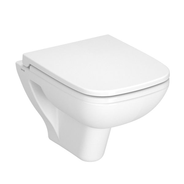 Vitra S20 Short Projection Wall Hung Toilet with Standard Toilet Seat
