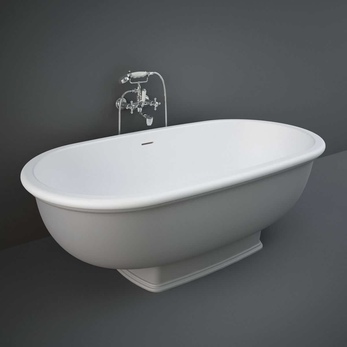 RAK Washington Grey Freestanding Bath 1560mm