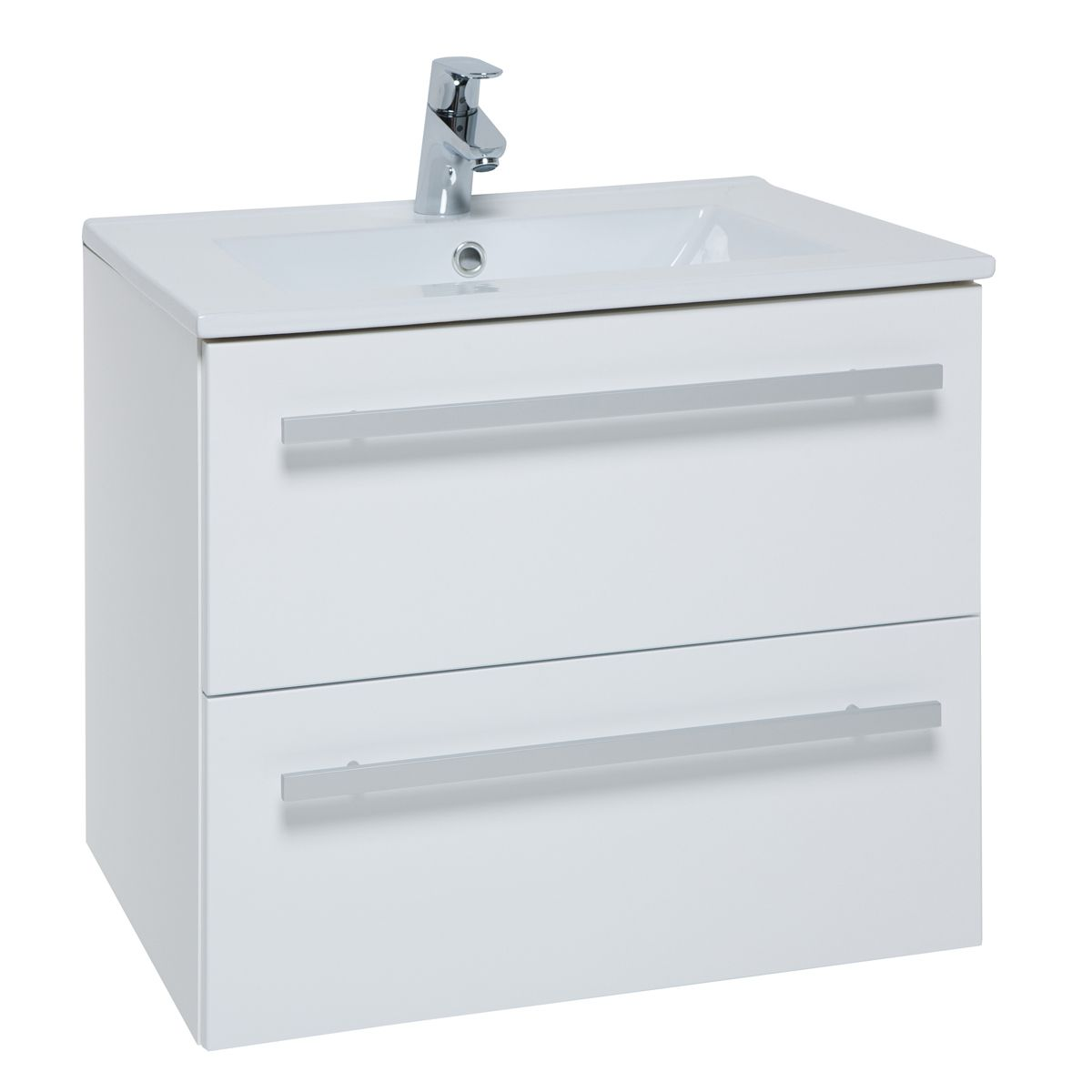 Kartell Purity White 2 Drawer Wall Mounted Vanity Unit 600mm