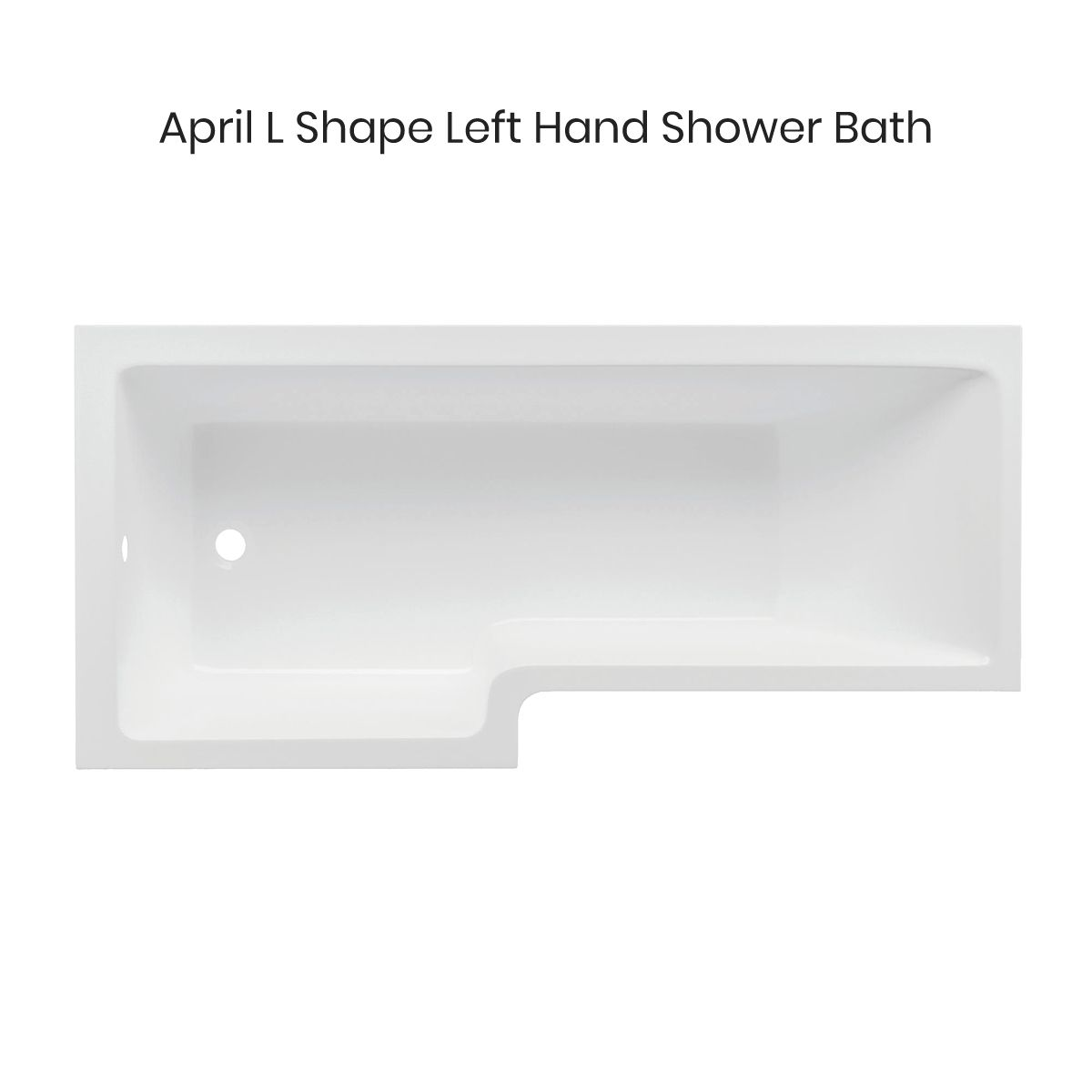 April L Shape Left Hand Shower Bath